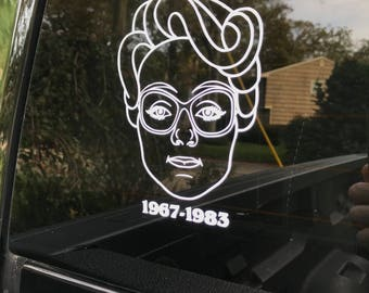 Stranger Things Barb Car Decal