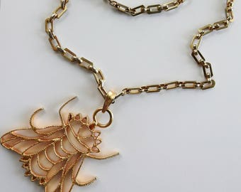KJL Large Fly Pendant on Chain
