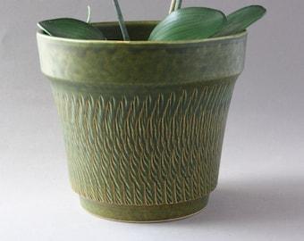 60s 70s planter ceramic Boho, vintage flower pot Boheme, German flowerpot, gift friend girlfriend husband men him her sister brother