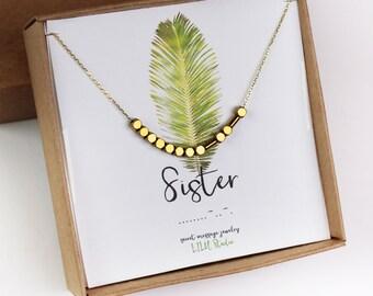 Morse code necklace, Morse code bracelet, sister necklace, sister bracelet, sterling silver, sister birthday gift, sister Morse code, dainty