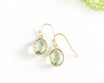 Little Green Amethyst Earrings
