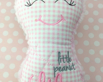 LILA - Already Personalized Girl Peanut Baby Soft Toy