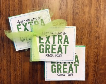 Back to School Handout - Extra Great School Year - Extra Gum Handout- INSTANT DOWNLOAD