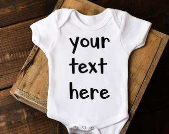 Custom baby onesie etsy negle Choice Image