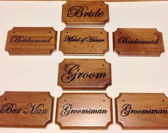 Wedding Party Seating Placards