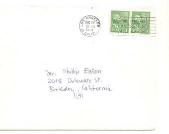US 1949 Cover with seal stamp and in Christmas Card