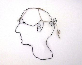 Create your portrait in wire wire creation
