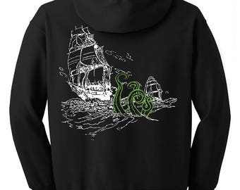 Sea Monster Zip Hoodie