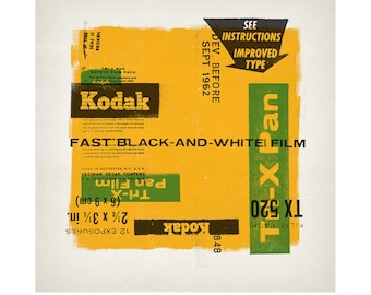 "Kodak Tri-X Pan - 3-color screenprint poster - 26"" x 26"""