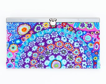 Millefiore Diva Wallet, Clutch Wallet, Diva Frame, Checkbook Holder, Credit Card Holder, Women's Wallet, Clutch Purse