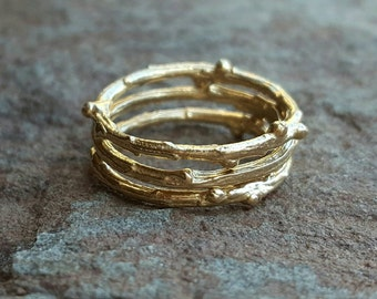 14K Gold Stacking Ring, Stackable Wedding Band, Wedding Bands Women, Gold Stacking Rings, Stacking Ring Set, Stacked Wedding Bands for Women