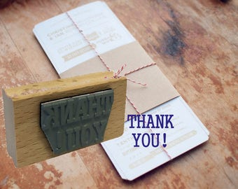 Thank You Rubber Stamp