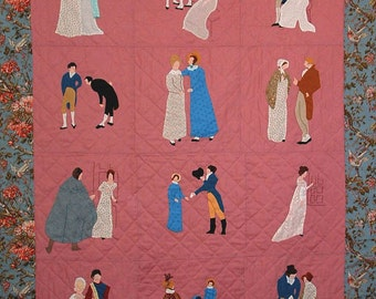Regency Applique, a quilt pattern  inspired by Jane Austen's Pride and Prejudice