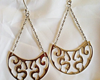 Sterling Silver Filigree Earrings - Handmade