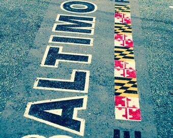 Baltimore Marathon Finish Line. Photography.