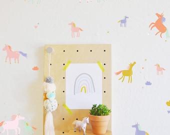 Wall Decal - Tiny Unicorns - wall sticker - room decor