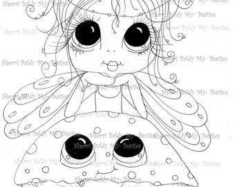 INSTANT DOWNLOAD Digital Digi Stamps Big Eye Big Head Dolls IMG039 My Besties By Sherri Baldy