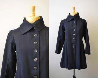 1930s/40s Black Wool Coat