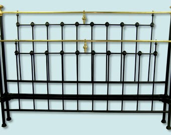Antique King Cast Iron Bed, Iron Bed King Size, King Size wrought iron bed, king size metal bed, king size steel bed, antique iron bed