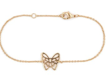Guaranteed for 10 years gold plated Butterfly bracelet