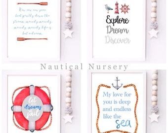 Nautical Nursery Collection Prints