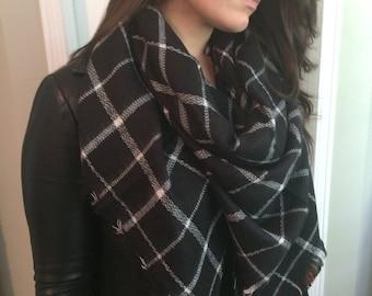 Most popular selling,Plaid Blanket Scarf,Cotton Blanket scarf, Plaid Scarf, Blanket plaid scarf, Trendy