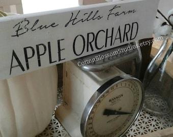 Fall Wood Sign - Apple Orchard Sign - Fall Sign - Farmhouse Sign - Farmhouse Fall Sign - Fall Decor - Cotton Blossom Stuido