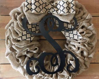 Front Door Wreath | Burlap Wreath | Everyday Wreath | Year Round Wreath | Farmhouse Wreath | Rustic Wreath