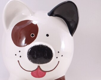 Puppy Dog Piggy Bank - Personalized Dog Bank - Beagle Bank - Cute Piggy Bank - Personalized Dog Lovers Gift- with hole or NO hole in bottom