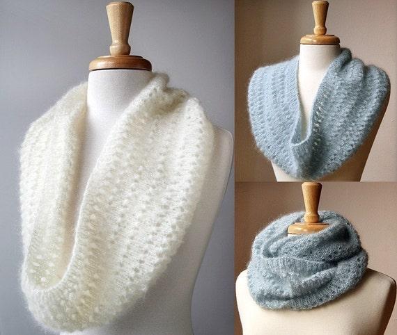 Snood Knitting Pattern Genevieve Cowl Neckwarmer Scarf
