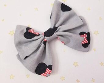 Kawaii Minnie Mouse Hair Bow Clip - Fairy Kei Decora Pastel Goth Harajuku inspired