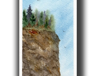 Original watercolor painting GREETING card SFA Pacific NW