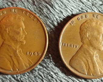 1945 & 1946 wheat penny