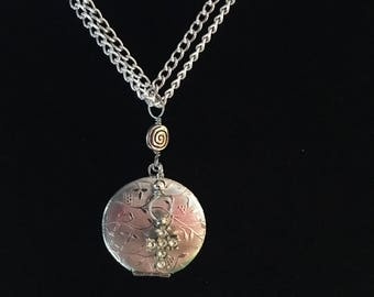 Silver and cross locket necklace