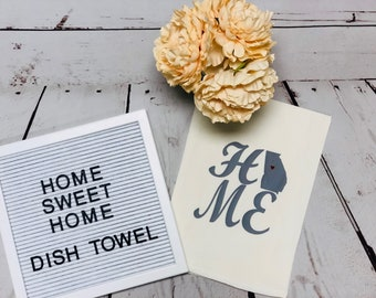 Kitchen Towel, Georgia Towel, Wedding Gift, Housewarming Gift, Personalized Towel, Flour sack towel, Gift for her, Linens, Tea Towels, towel