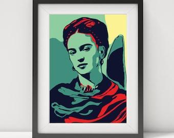 frida kahlo, frida kahlo print-poster-art, frida kahlo quote, frida kahlo portrait, frida, digital prints, prints, pop art, legend