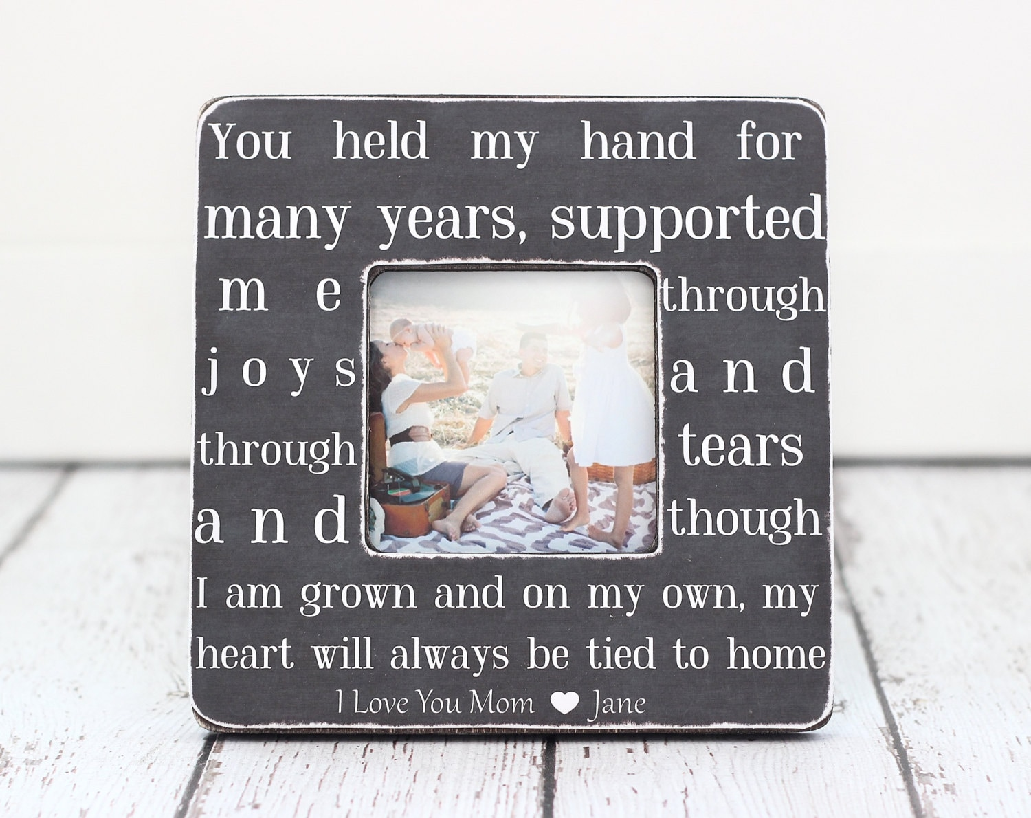 Frames With Quotes On Them: Mom Gift Picture Frame Quote Personalized For Family From