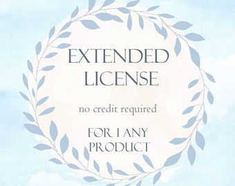 EXTENDED LICENSE No Credit required / Single product