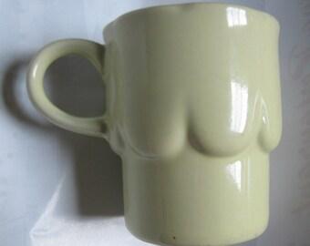 Green Planter, Small Green Mug, Cappucino Mug, Scalloped, Ceramic Mug, Air Plant Planter, Succulent Planter, Celadon Art Deco Mug or Planter