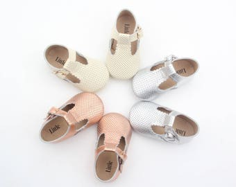 Baby Shoes T-bars, Baby Soft Sole, Genuine Leather T Bars, Toddler Shoes, Baby Shoes, Baby Shower Gift