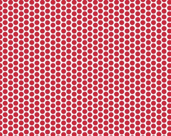 Riley Blake Designs Red Honeycomb Dot Reversed