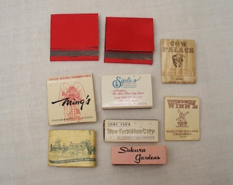 Vintage Matchbook Cover Matchbox Collection - Lot of 9