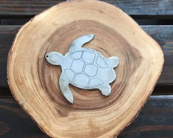 Rustic Recycled Steel Metal Turtle Tortoise Ornament Christmas Holiday Gift
