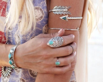 Turquoise Ring, Ring, Sterling Silver Ring, Boho Ring, Turquoise Jewelry, Boho Jewelry, Statement Ring, Gypsy, Bohemian Ring, Rings for Her