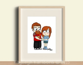 custom portrait, without background, family portrait, gift, custom wall art, family wall decor, printable art, wall art, drawing, couples po