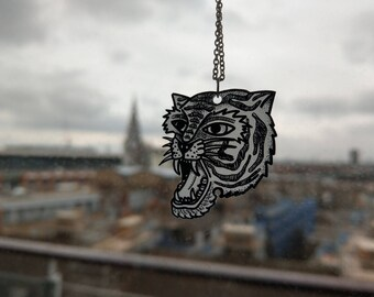 Traditional Tiger Tattoo Necklace