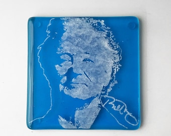 Bill Murray Fused Glass Coaster, Actor Coaster, Comedian Coaster, Icon Coaster
