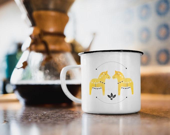 Dala Horse Enamel Mug