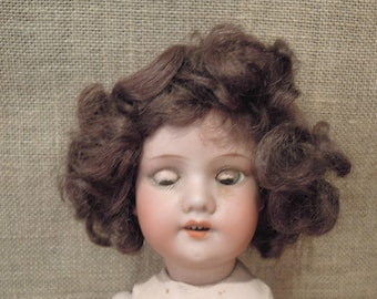Tragic Vintage / Antique Victorian Armand Marseille Doll / German doll / 1900 / Glass Eyes / Armand Marseille