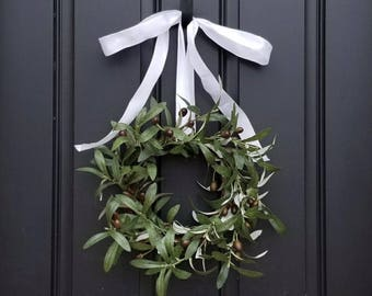 PEACE Wreath, Peace On Earth Wreath, Olive Branches, Wreath, Olive Branch Wreath, Wreaths, Wreath for Peace, Wreath with Olive Branches